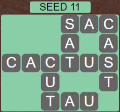 Wordscapes Seed 11 (Level 555) Answers