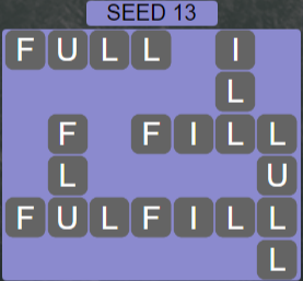 Wordscapes Seed 13 (Level 557) Answers