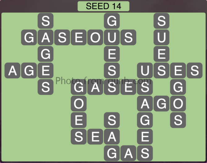 Wordscapes Seed 14 (Level 558) Answers