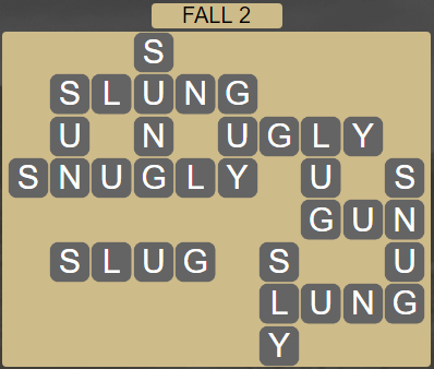 Wordscapes Fall 2 (Level 562) Answers