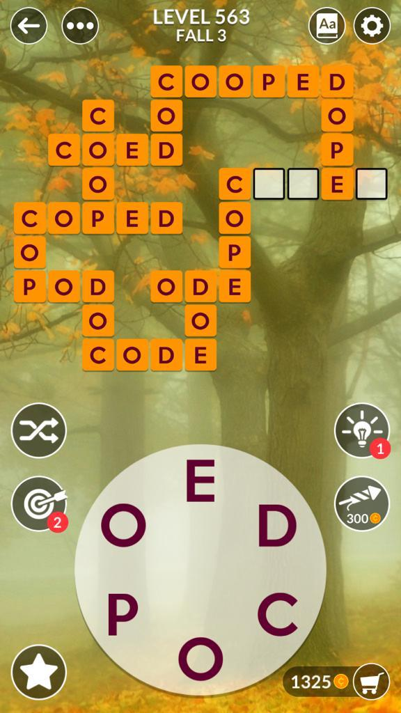Wordscapes Fall 3 (Level 563) Answers