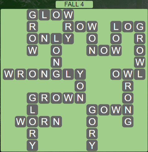 Wordscapes Fall 4 (Level 564) Answers