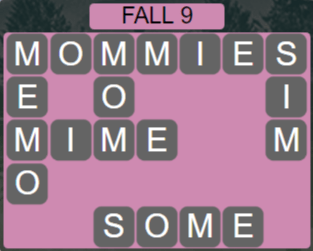 Wordscapes Fall 9 (Level 569) Answers