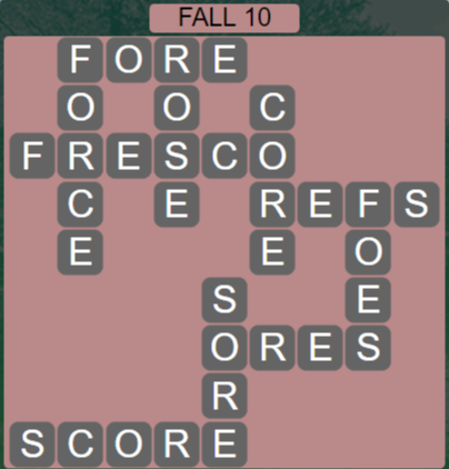 Wordscapes Fall 10 (Level 570) Answers