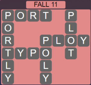 Wordscapes Fall 11 (Level 571) Answers