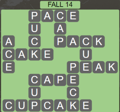 Wordscapes Fall 14 (Level 574) Answers