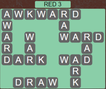Wordscapes Red 3 (Level 595) Answers