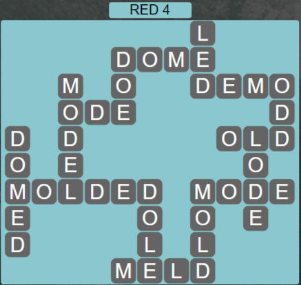 Wordscapes Red 4 (Level 596) Answers