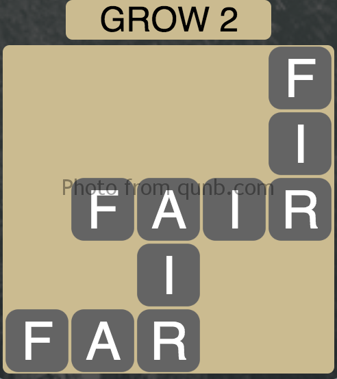 Wordscapes Grow 2 (Level 6) Answer and Cheat