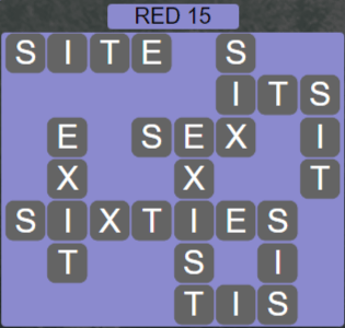 Wordscapes Red 15 (Level 607) Answers