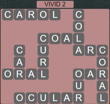 Wordscapes Vivid 2 (Level 610) Answers