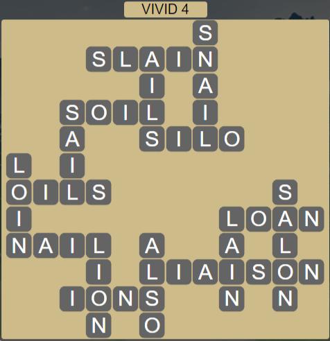 Wordscapes Vivid 4 (Level 612) Answers
