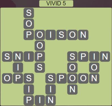 Wordscapes Vivid 5 (Level 613) Answers