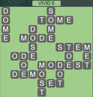 Wordscapes Vivid 6 (Level 614) Answers