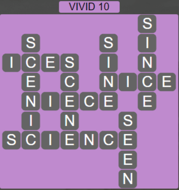 Wordscapes Vivid 10 (Level 618) Answers