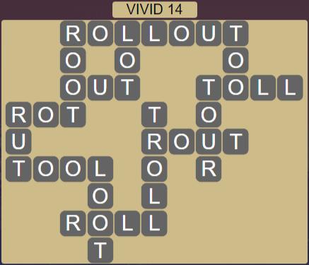 Wordscapes Vivid 14 (Level 622) Answers