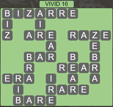 Wordscapes Vivid 16 (Level 624) Answers