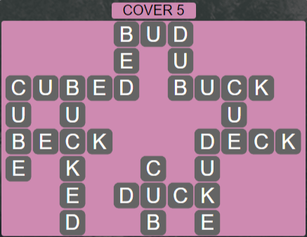 Wordscapes Cover 5 (Level 629) Answers