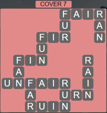 Wordscapes Cover 7 (Level 631) Answers