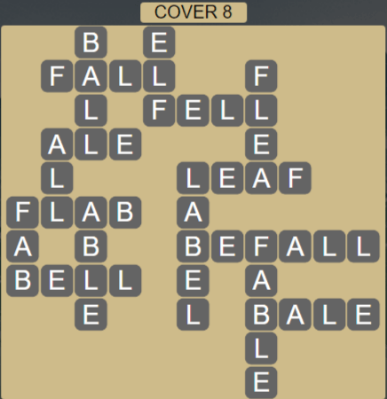 Wordscapes Cover 8 (Level 632) Answers
