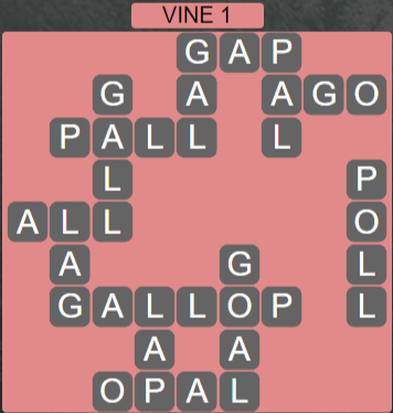 Wordscapes Vine 1 (Level 641) Answers