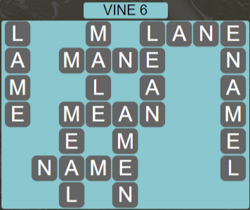 Wordscapes Vine 6 (Level 646) Answers