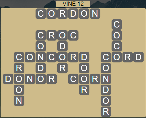 Wordscapes Vine 12 (Level 652) Answers
