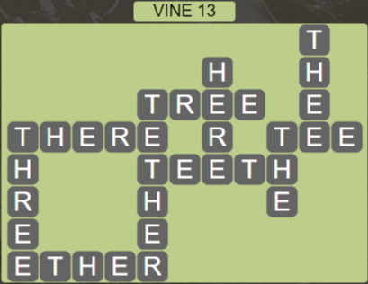 Wordscapes Vine 13 (Level 653) Answers