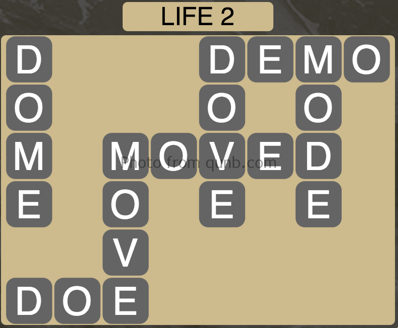Wordscapes Level 66 (Life 2) Answer