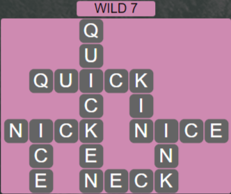 Wordscapes Wild 7 (Level 679) Answers