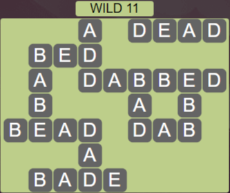 Wordscapes Wild 11 (Level 683) Answers