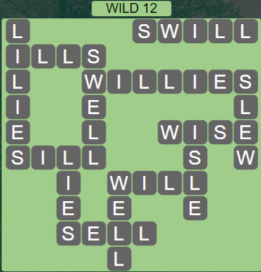 Wordscapes Wild 12 (Level 684) Answers