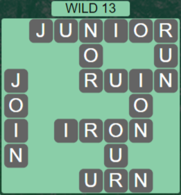 Wordscapes Wild 13 (Level 685) Answers