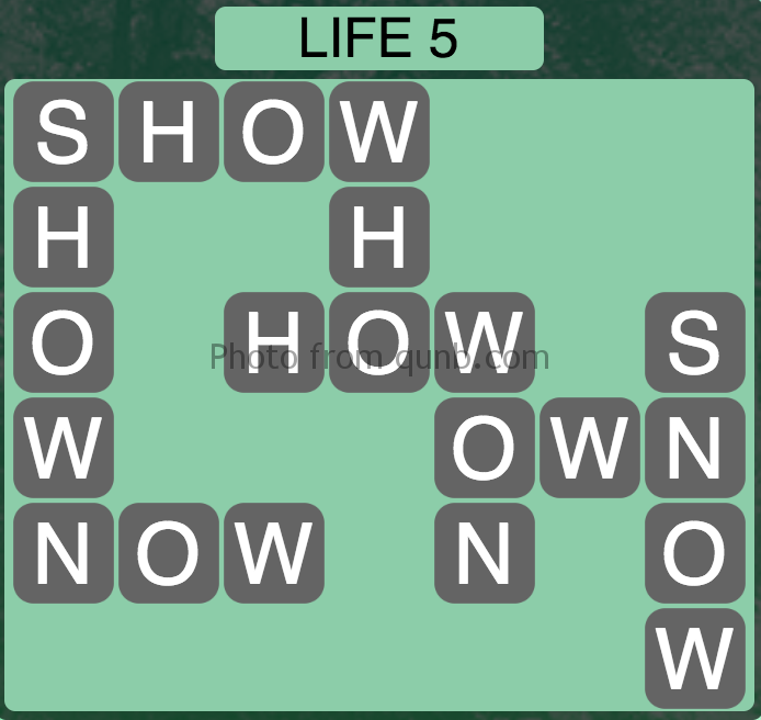 Wordscapes Level 69 (Life 5) Answer
