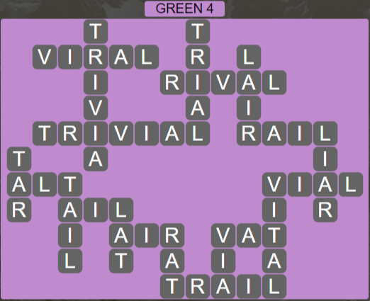 Wordscapes Green 4 (Level 708) Answers