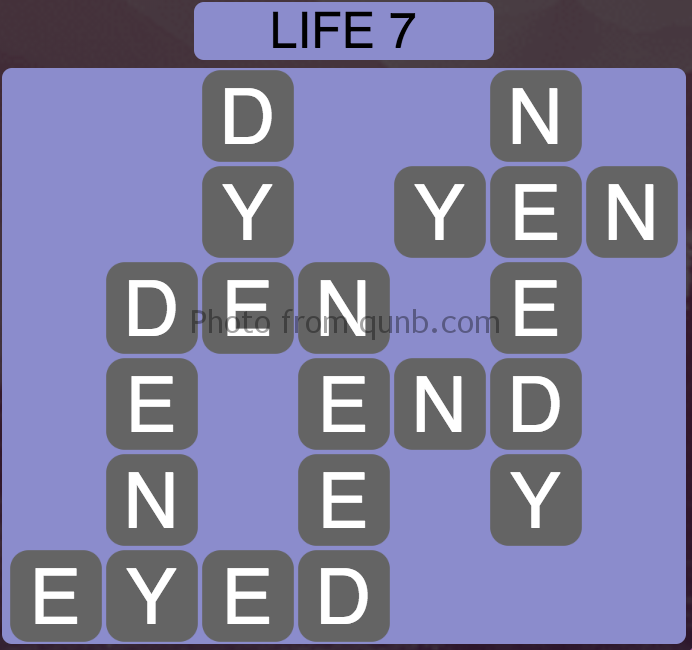 Wordscapes Level 71 (Life 7) Answer