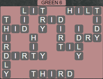 Wordscapes Green 6 (Level 710) Answers