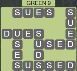 Wordscapes Green 9 (Level 713) Answers