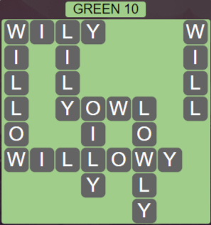Wordscapes Green 10 (Level 714) Answers