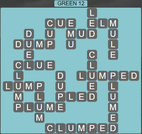 Wordscapes Green 12 (Level 716) Answers