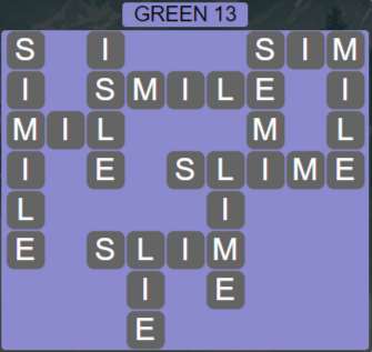 Wordscapes Green 13 (Level 717) Answers