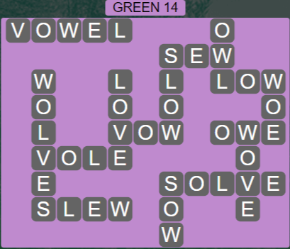 Wordscapes Green 14 (Level 718) Answers