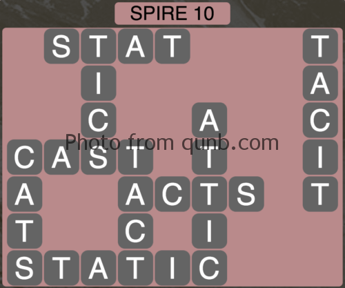 Wordscapes Spire 10 (Level 730) Answers