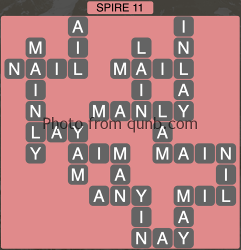 Wordscapes Spire 11 (Level 731) Answers