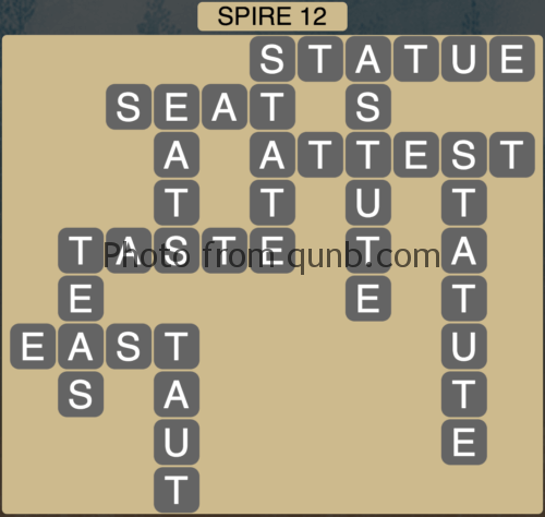 Wordscapes Spire 12 (Level 732) Answers