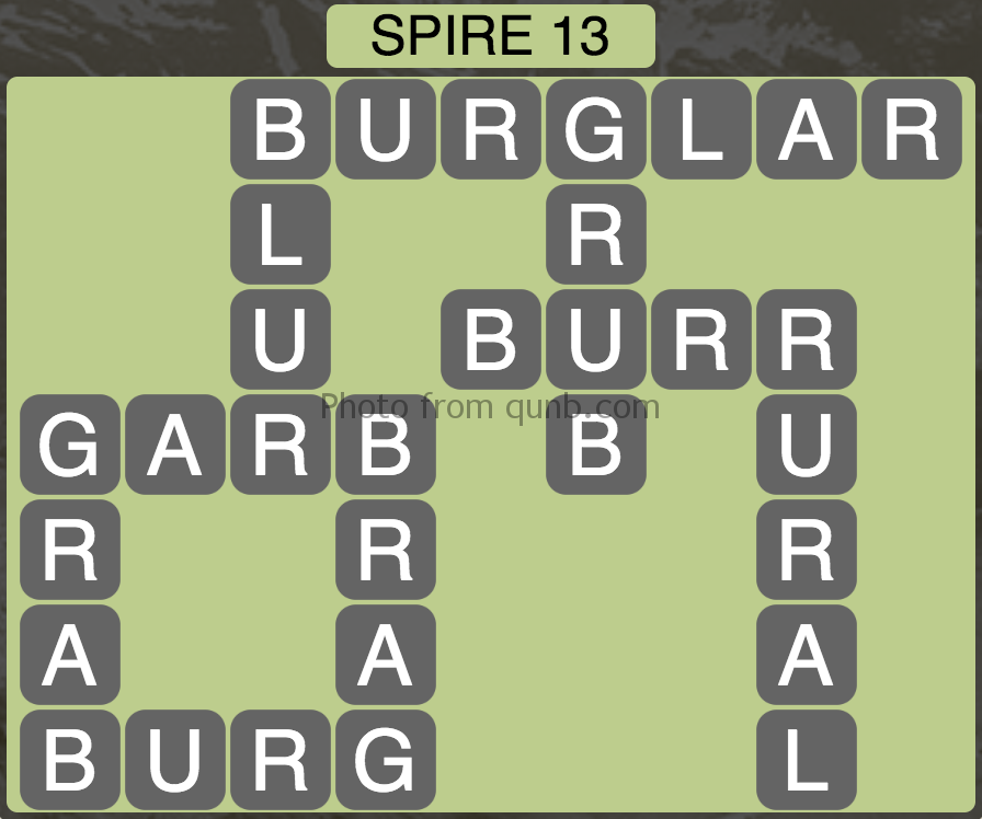 Wordscapes Spire 13 (Level 733) Answers