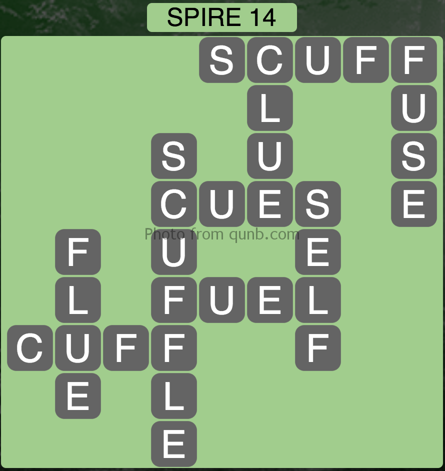 Wordscapes Spire 14 (Level 734) Answers