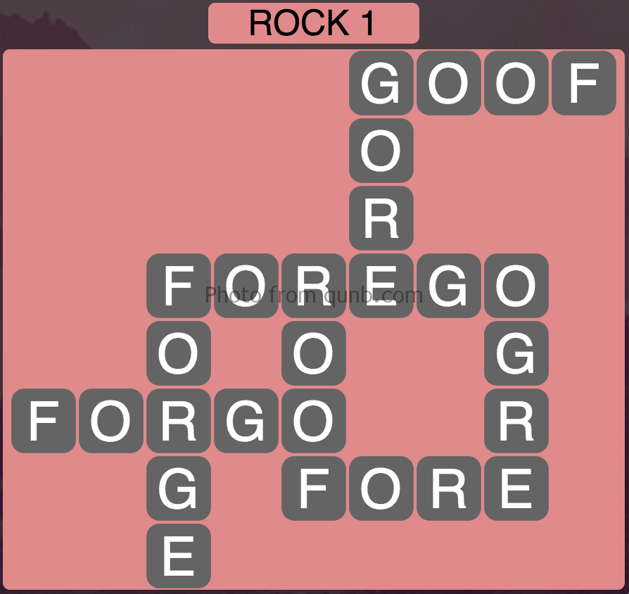 Wordscapes Rock 1 (Level 737) Answers