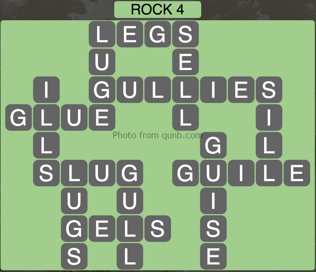 Wordscapes Rock 4 (Level 740) Answers