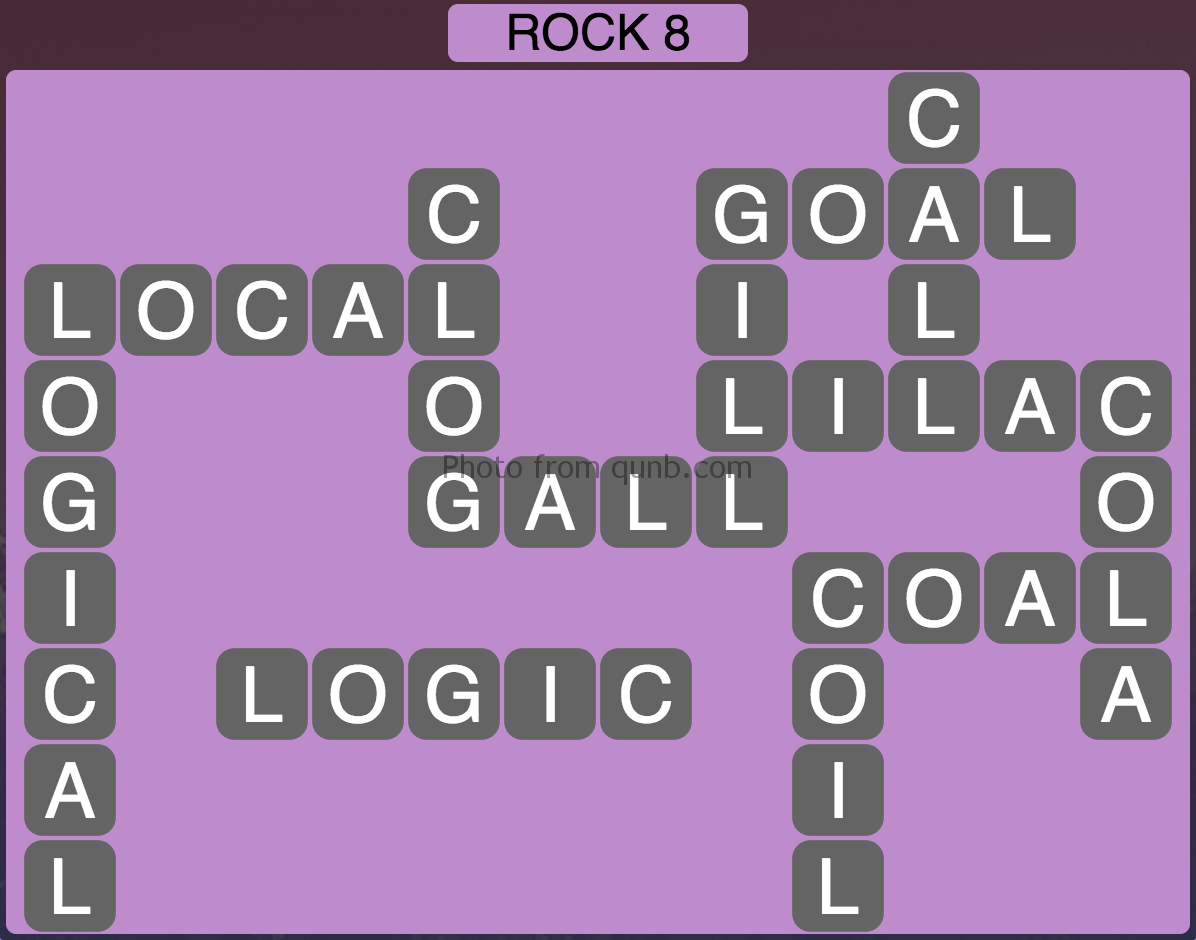 Wordscapes Rock 8 (Level 744) Answers